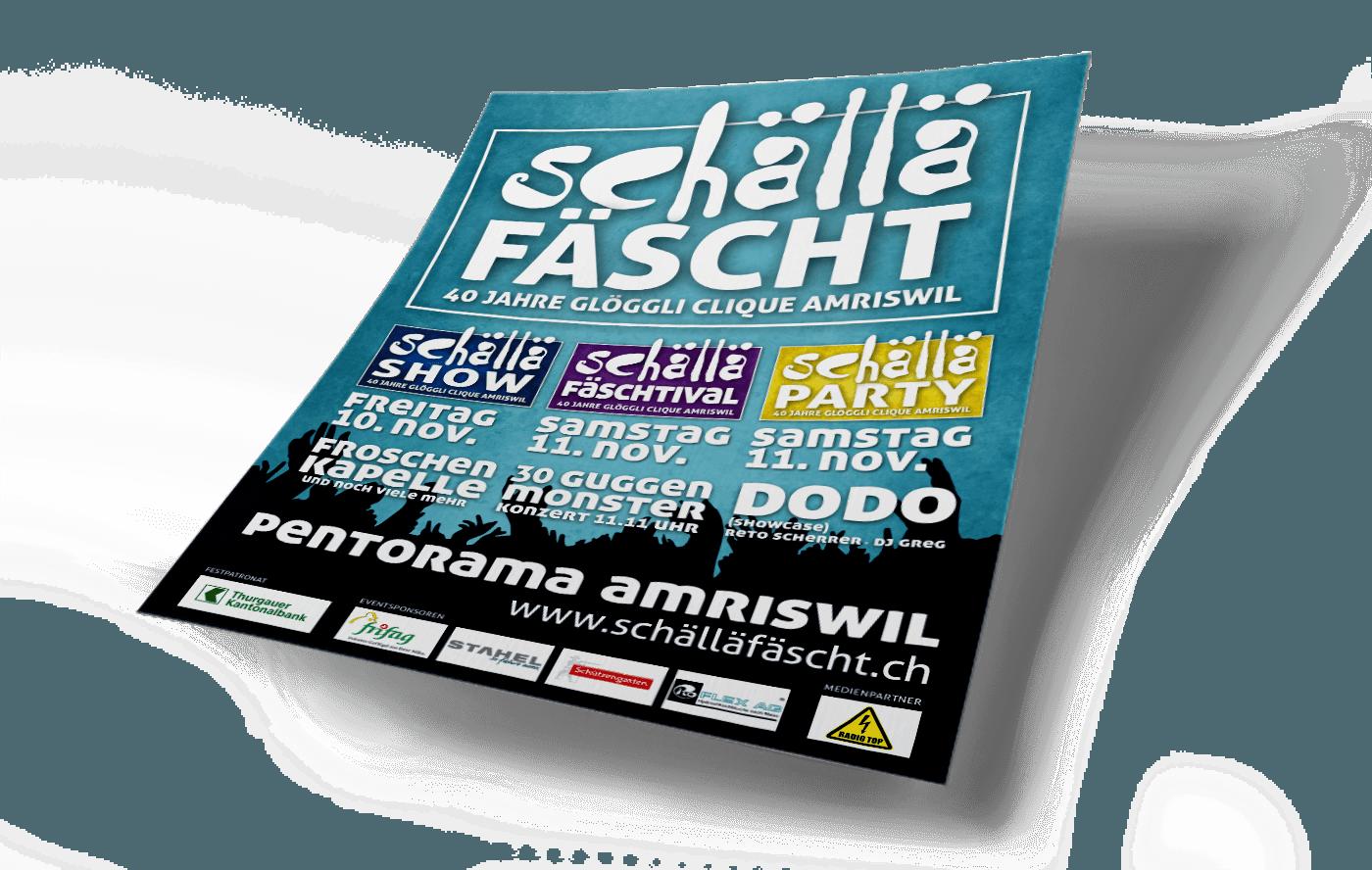 SCHÄLLÄFÄSCHT – Programmgestaltung, Eventkonzept, Keyvisual und Webseite