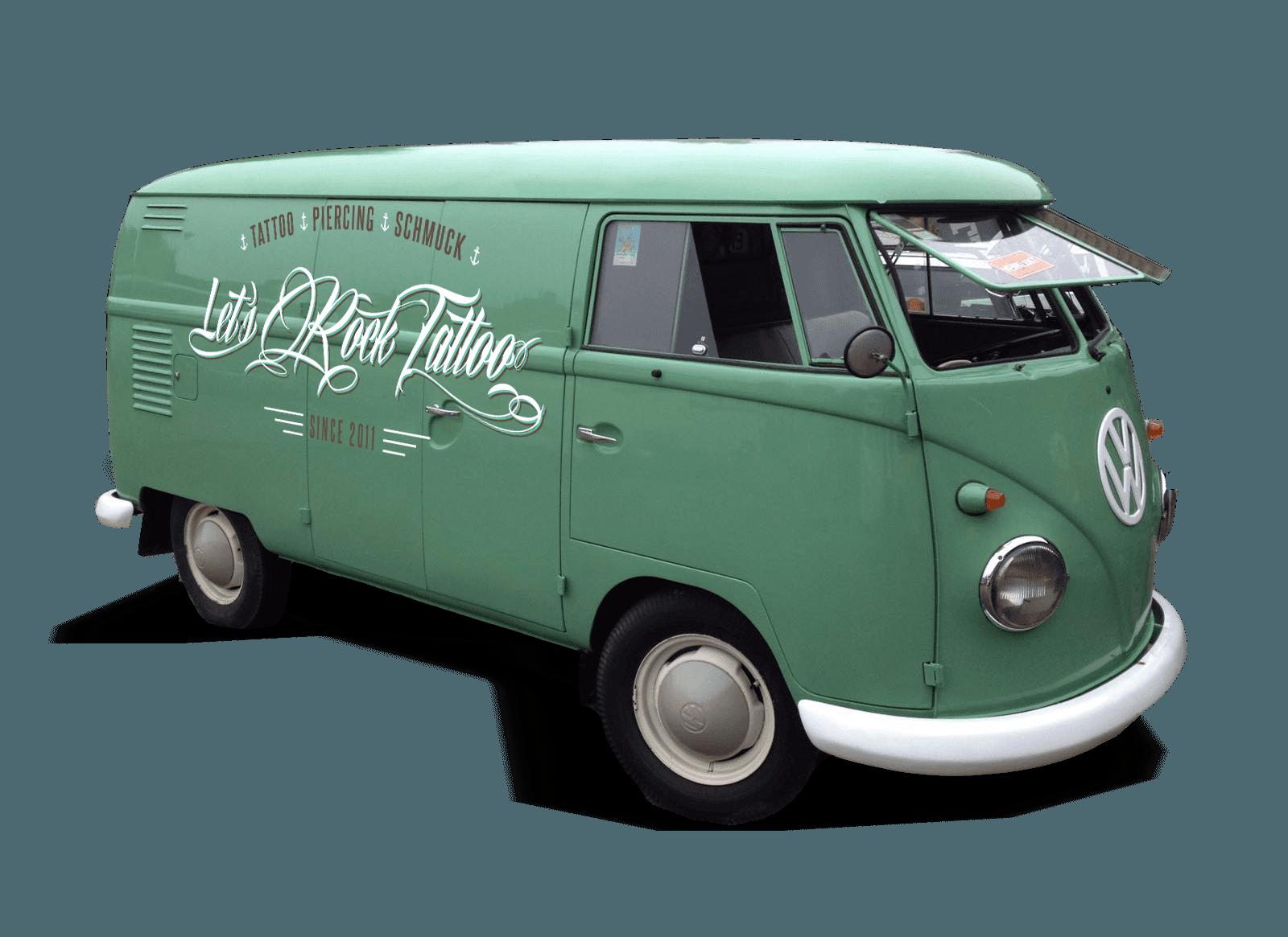 LETS ROCK TATTOO – Gestaltung und Beschriftung