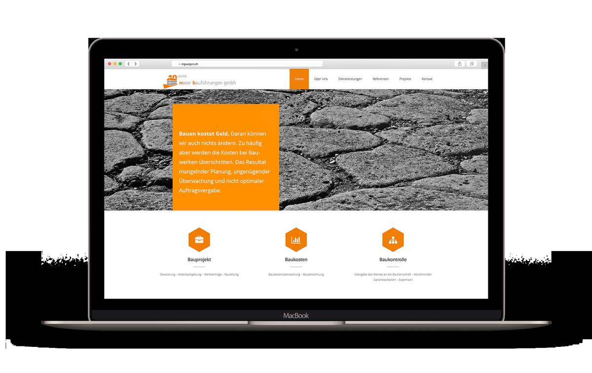 Redesign Webseite – Maier Bauführungen GmbH
