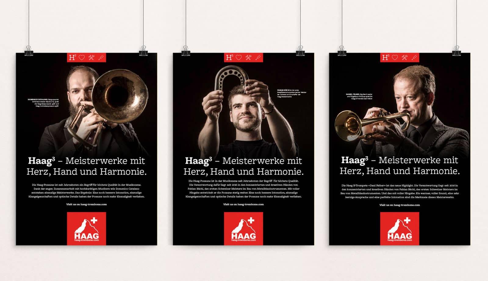 MUSIK HAAG AG –Rebranding Konzept