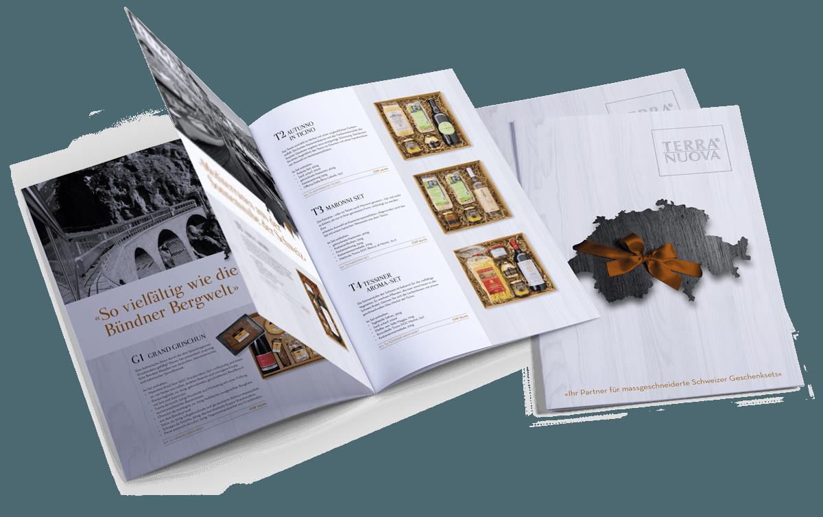 TERRA NUOVA AG – Broschüre für Schweizer Geschenksets