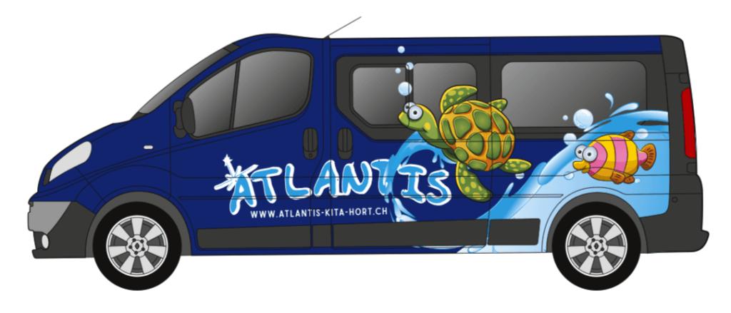 ATLANTIS KITA & HORT GMBH –Beschriftung Shuttle-Bus
