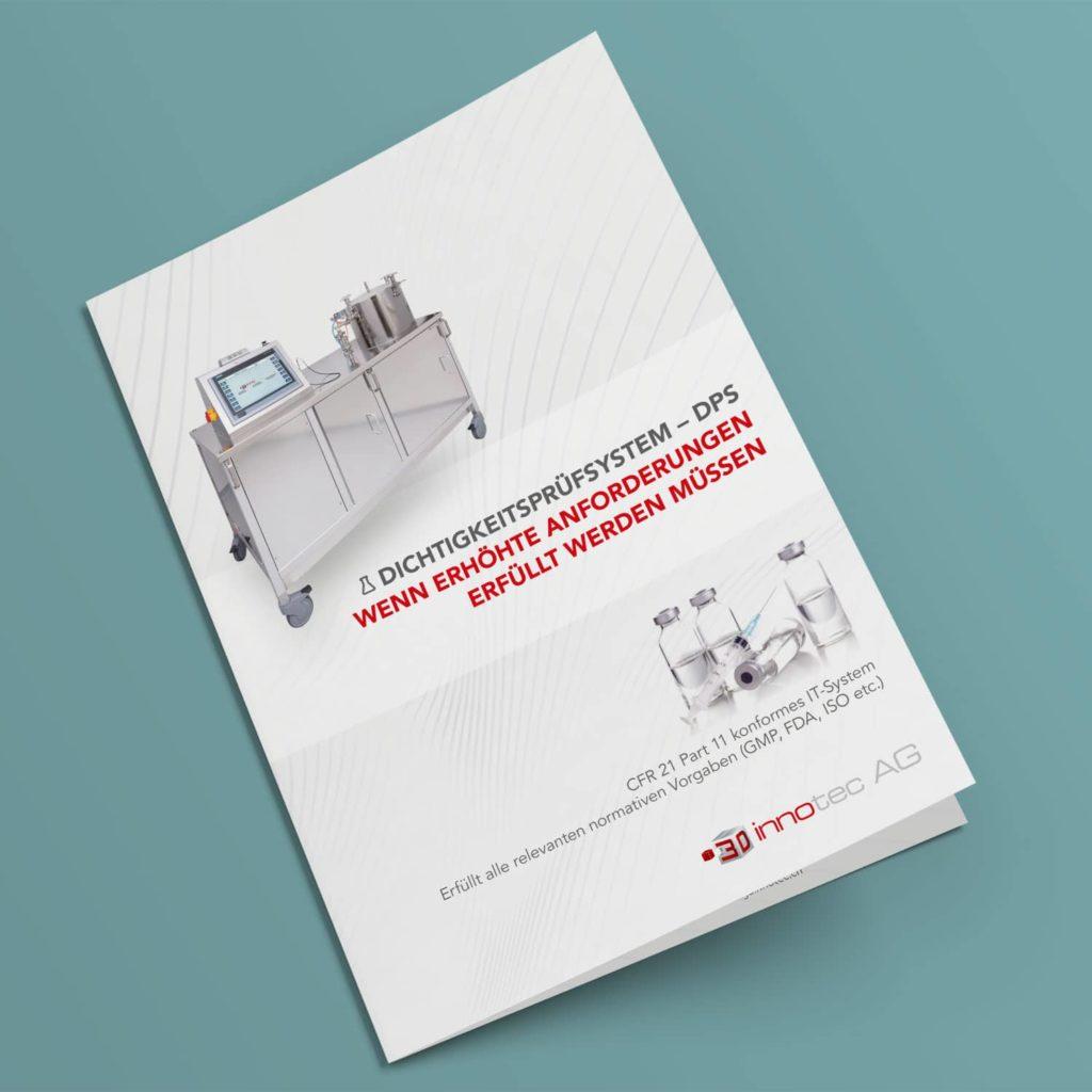 3D innotec AG – Broschüre für DPS Dichtigkeitsprüfsystem