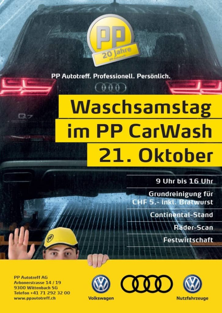 PP AUTOTREFF AG – BEWERBUNG AUTOWASCHSAMSTAG