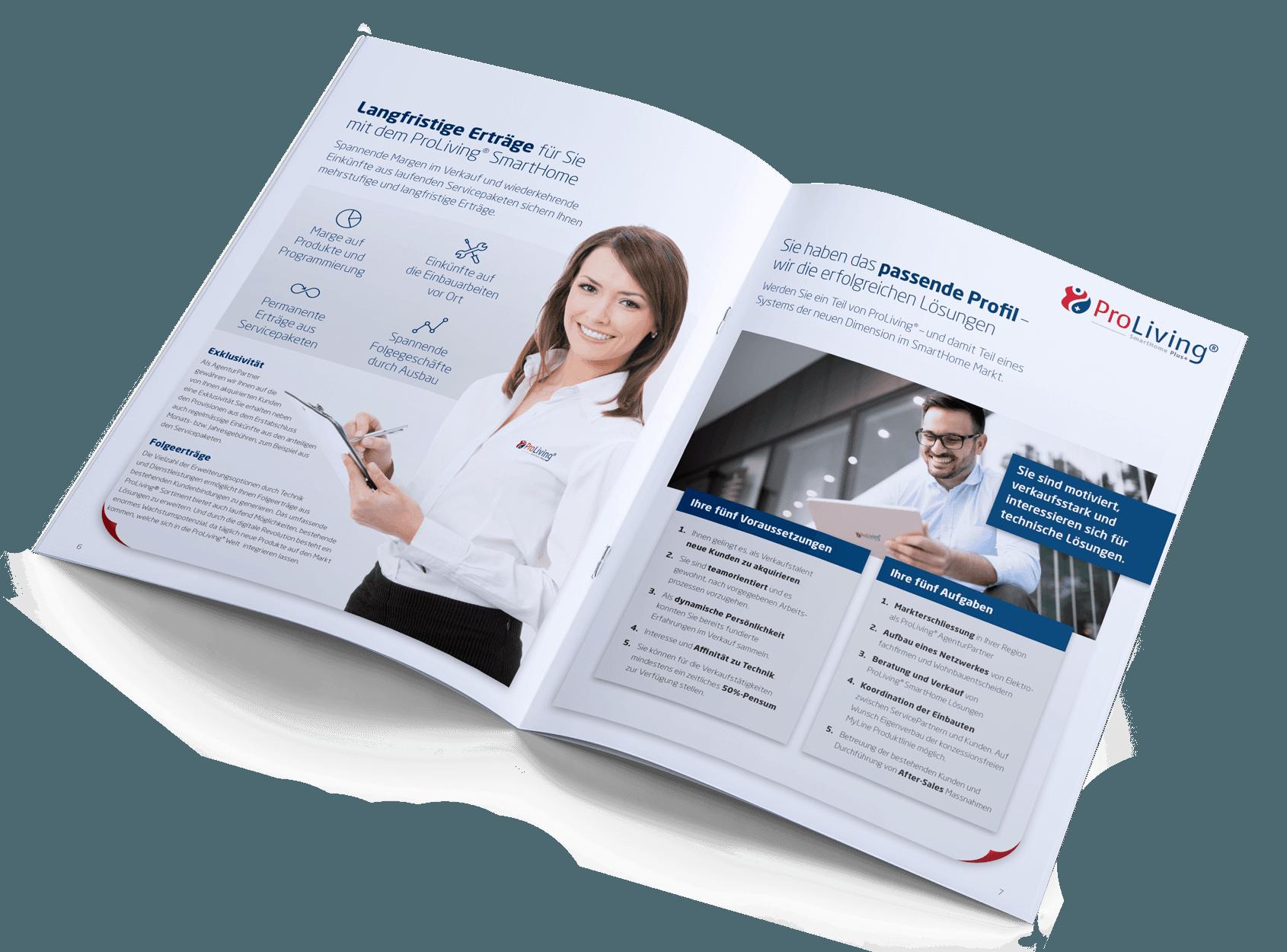 Partnerprogramm Marketingunterlagen – ProLiving Systems AG