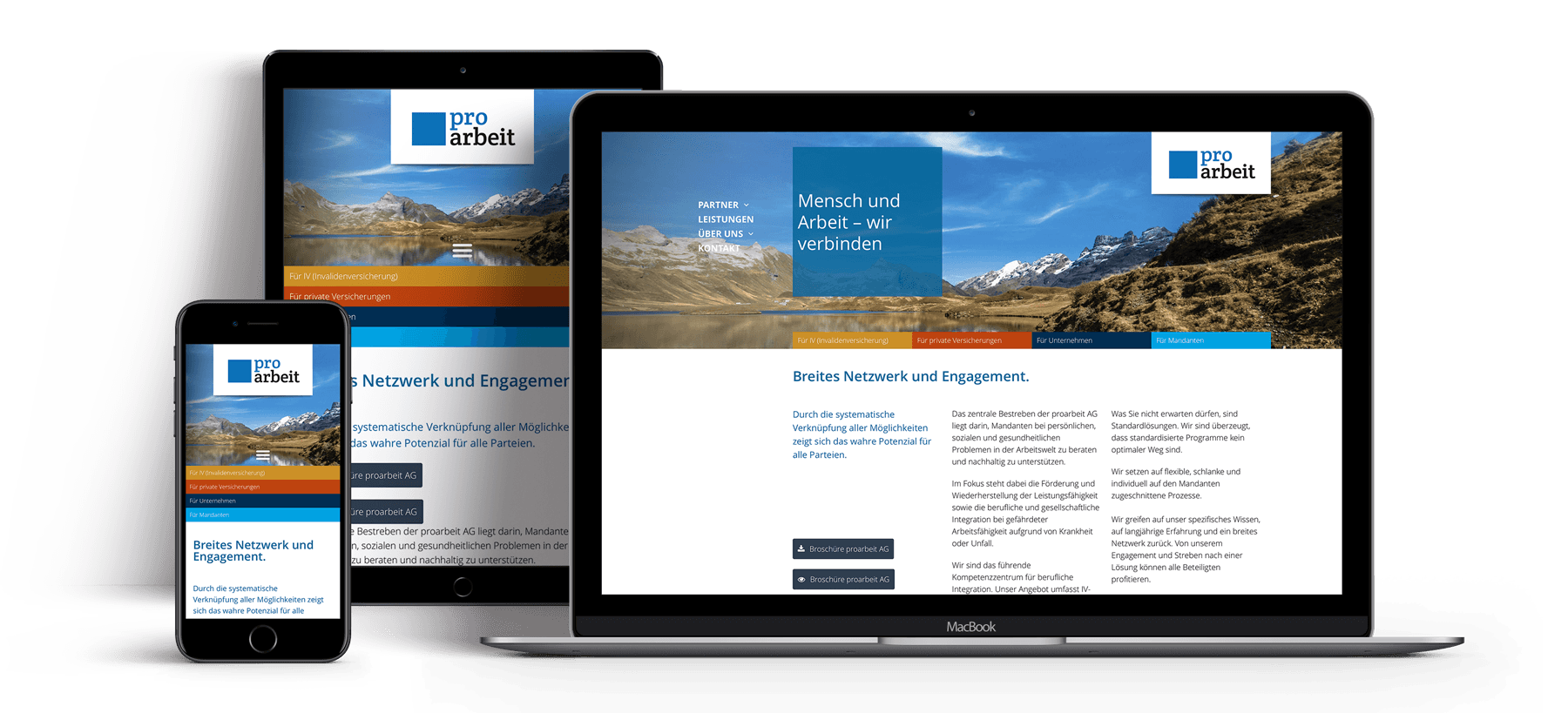 Redesign Webseite – proarbeit AG