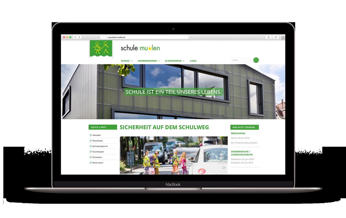 Redesign Webseite – Primarschule Muolen