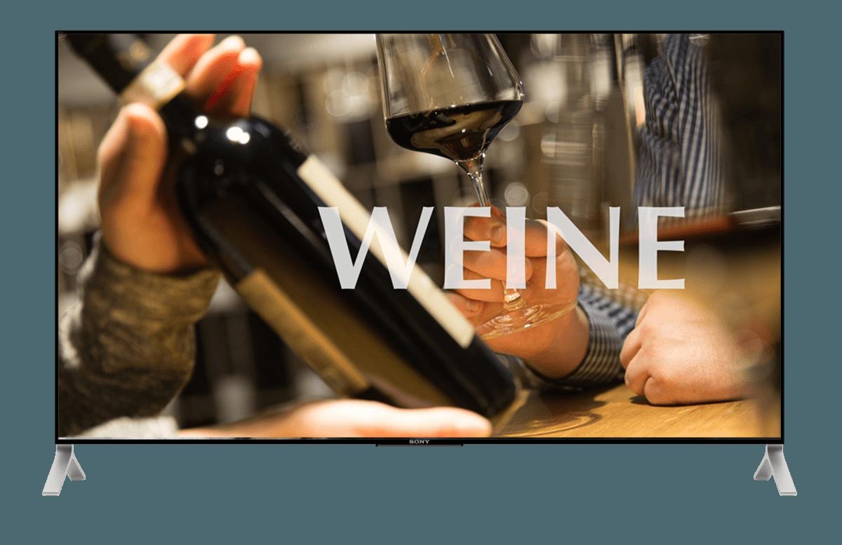 Werbemittel und Beschriftung für Eröffnung – Rutishauser Weinkulturen