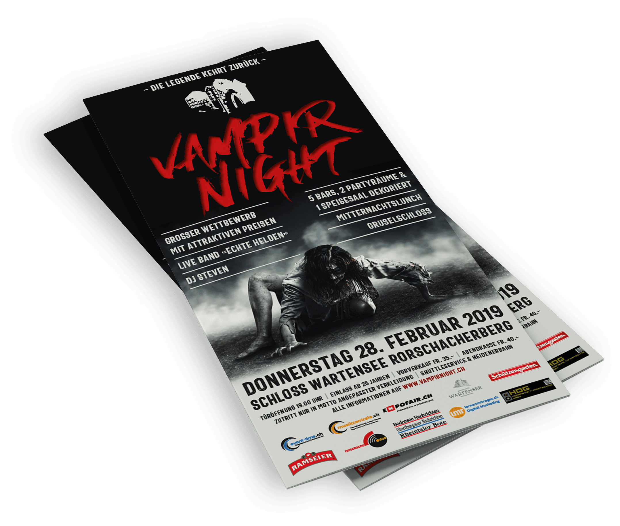 VAMPIRNIGHT – Key Visual und Gestaltung Flyer