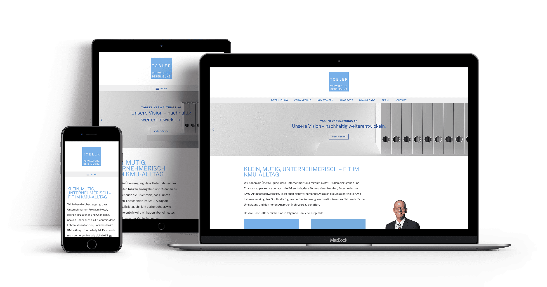 Tobler Verwaltungs AG – Neuauftritt Webseite