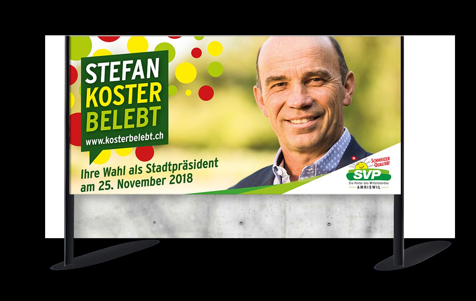 SVP Amriswil – Werbekampagne für die Stadtpräsidentenwahl 2018